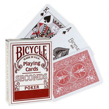 1 Deck Seconds Bicycle Poker Size Playing Cards Red